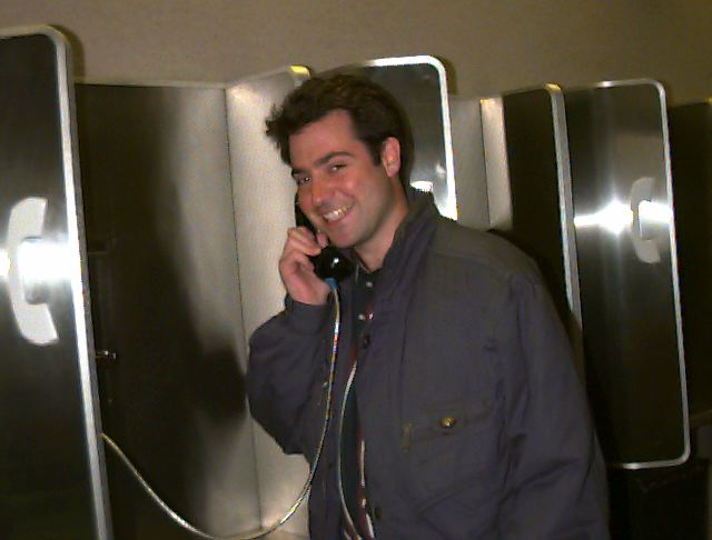 calling home from Norfolk, VA, Airport, 1996